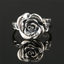 Sterling Silver Vintage Rose Ring