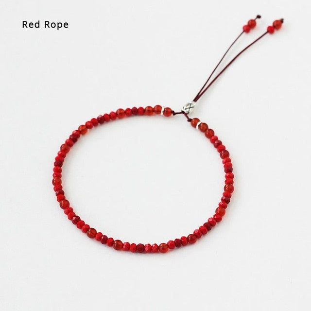 Natural Red Agate Beads Bracelet