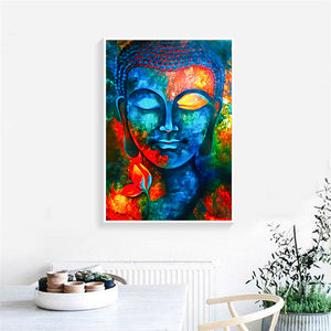 Abstract Buddha Wall Art Canvas Print