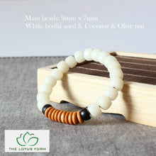 Natural White Bodhi Seed Bracelet