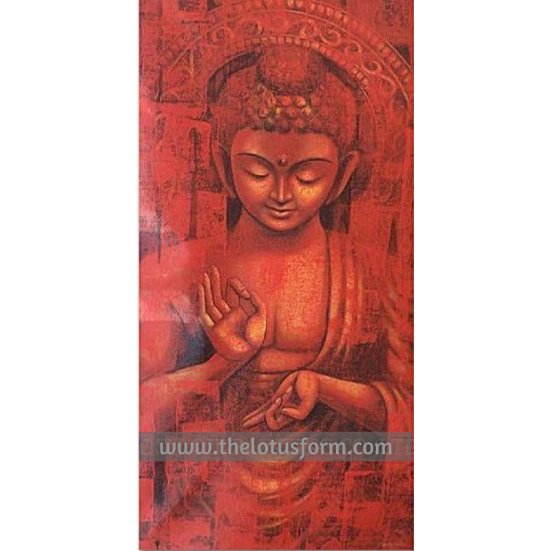Long Size Buddha Oil Painting (BD2)