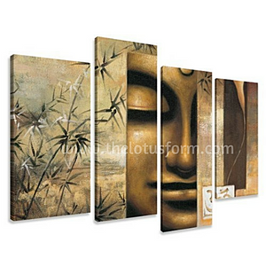 Limited Edition Feng Shui Buddha 4 Piece Oil Painting (BD3)