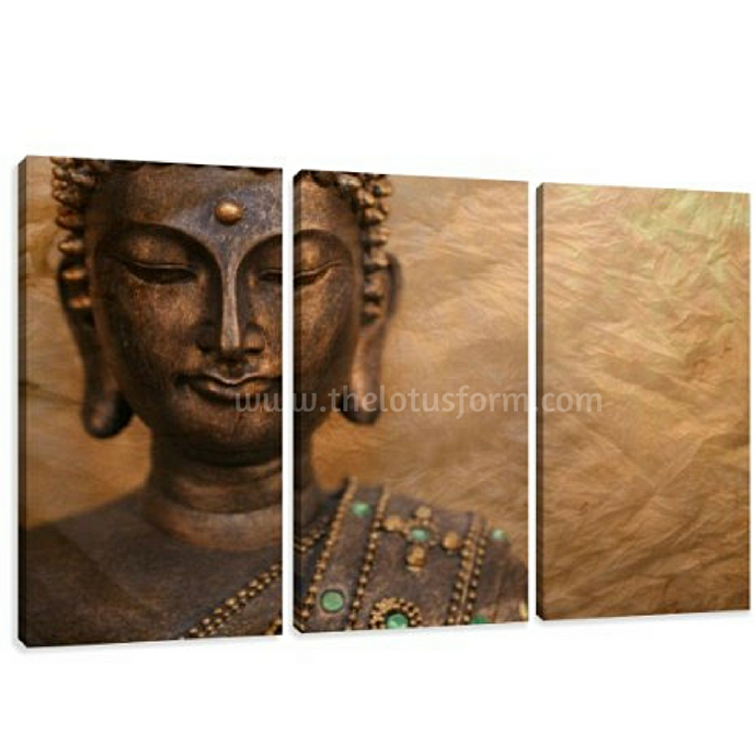 3 Panel Buddha Oil Painting (BD7)