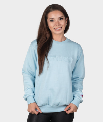 HT Embroidered Sweater - Baby Blue