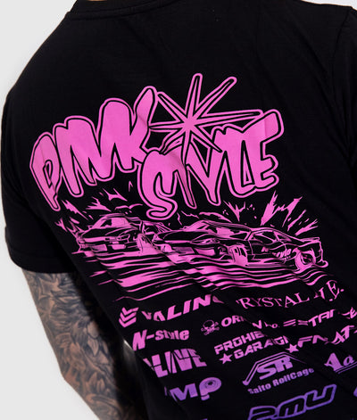 Pink Style - Kansai Drift Team 2019 Black Tee **LIMITED EDITION**