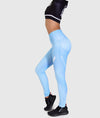 Hex Contour Leggings - Sky