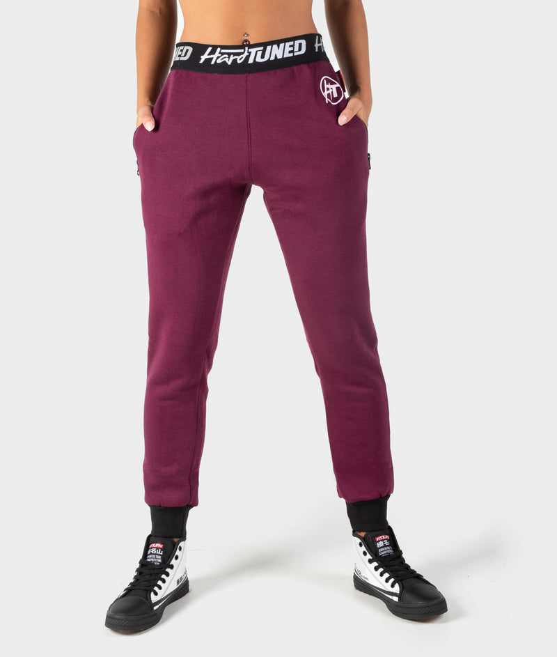 Ladies Power Over Trackies - Plum