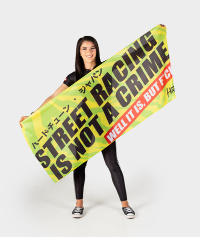 Street Racing Workshop Flag Banner
