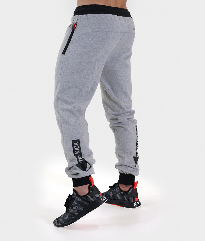 Mens Power Over Track Pants - Gray