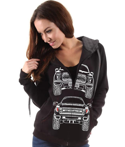 Ford F150 SVT Raptor Womens Hoodie