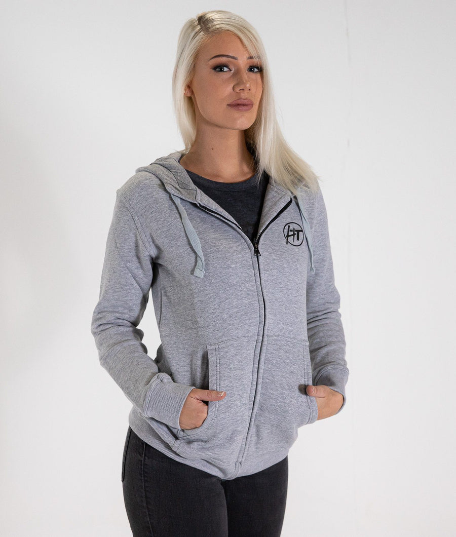 HardTuned Brush Script Womens Hoodie - Gray
