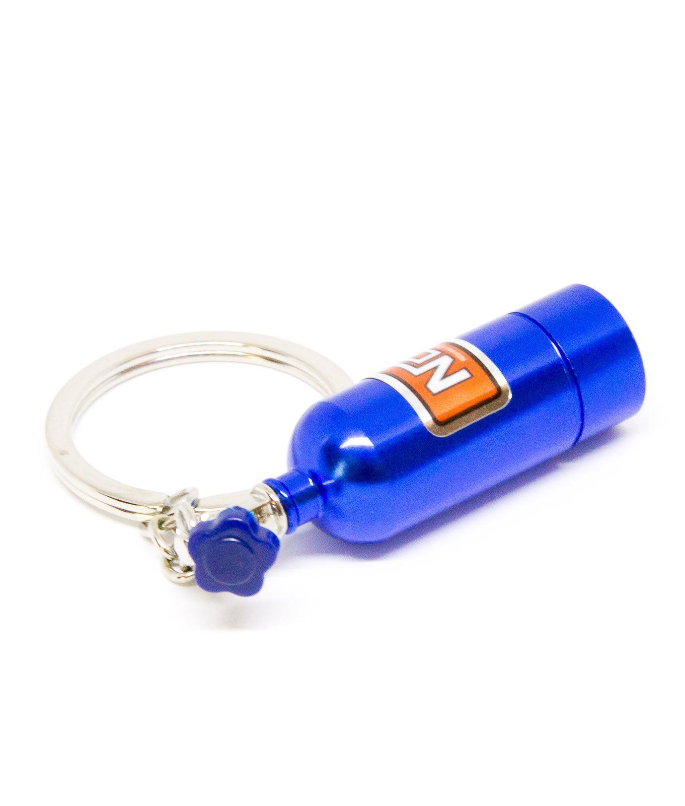 LED Nos Bottle Key Ring
