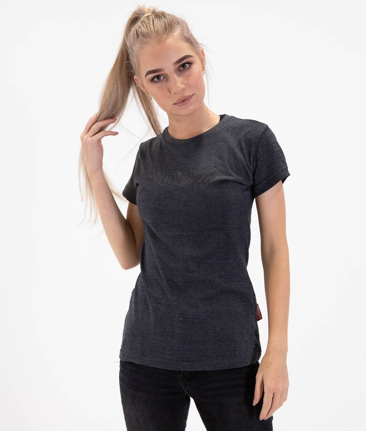 Tee - HardTuned Brush Womens Tee - Charcoal