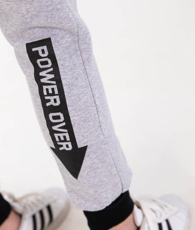 Track Pants - Ladies Power Over Trackies - Grey