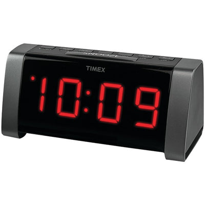 "AM/FM Dual Alarm Clock Radio with Jumbo 1.8"" LED Display & Auxiliary Input (Black)"
