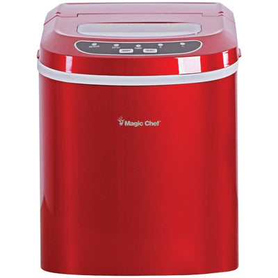27lb-Capacity Ice Maker (Red)