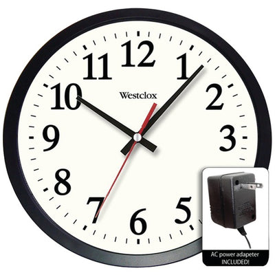 "14"" Round Electric Powered Office Wall Clock"