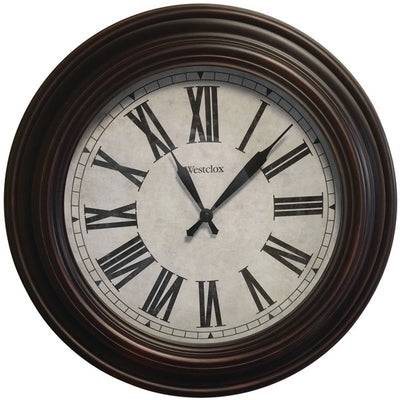 "20"" Round Roman Numeral Wall Clock"