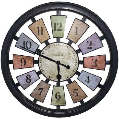 "18"" Round Colored Panels See-Through Clock"