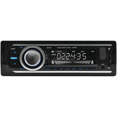Single-DIN In-Dash FM/MP3 Stereo Digital Media Receiver with USB Port & SDª Card Slot