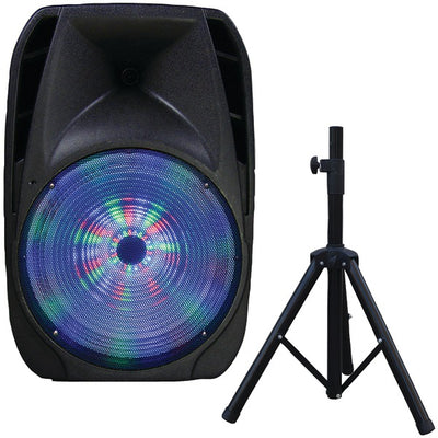 "15"" Portable Bluetooth¨ DJ Speaker with Stand"
