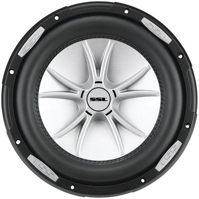 "SLR Series Dual 4? Voice-Coil Subwoofer with Polypropylene Cone (12"", 2,500 Watts)"