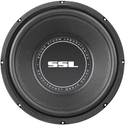 "SS Series High-Power Single 4ohm Voice-Coil Subwoofer with Poly-Injection Cone (10"", 600 Watts)"