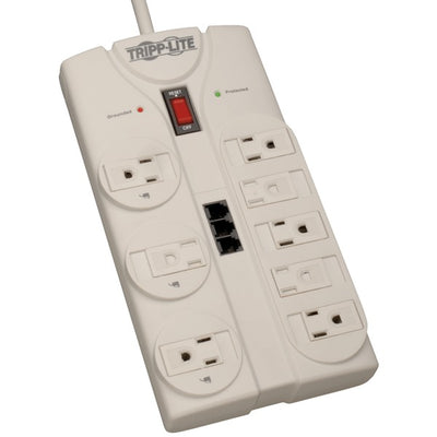 TRIPP LITE TLP808TEL 8-Outlet Surge Protector (2,160 Joules; 8ft cord; Telephone/modem/fax protection; $75,000 Ultimate Lifetime Insurance)