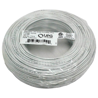 18-Gauge, 2-Conductor Striped Control White Cable, 500ft Coil Pack