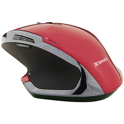 Wireless 8-Button Deluxe Blue LED Mouse (Red)