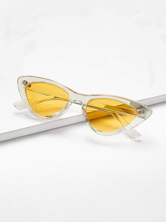 Cat Eye Flat Lens Sunglasses - TAGVIN