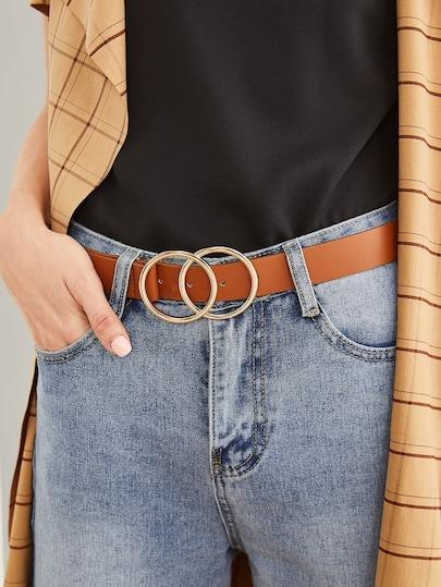 Double Ring Buckle Belt - TAGVIN