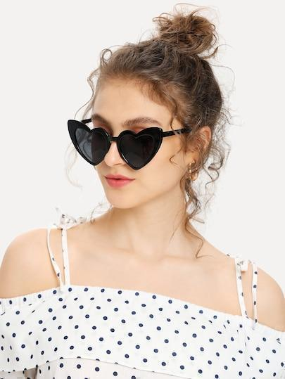 Heart Shaped Frame Sunglasses - TAGVIN