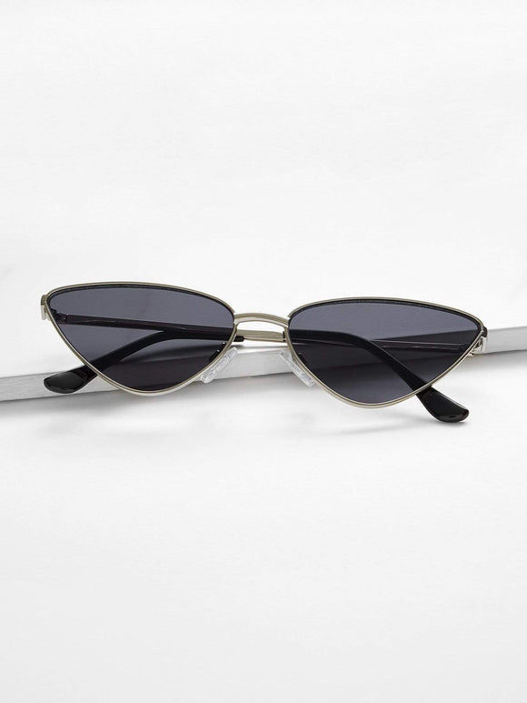 Metal Frame Cat Eye Sunglasses - TAGVIN