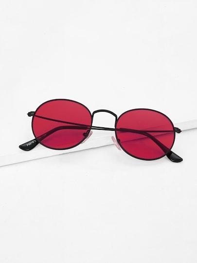 Metal Frame Round Sunglasses - TAGVIN