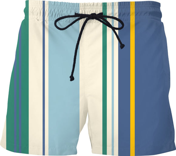 Nautical Regatta Striped Swim Shorts - TAGVIN