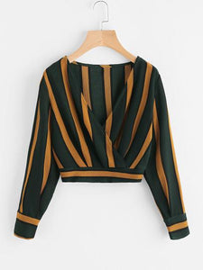 Regatta Striped Crop Top - TAGVIN