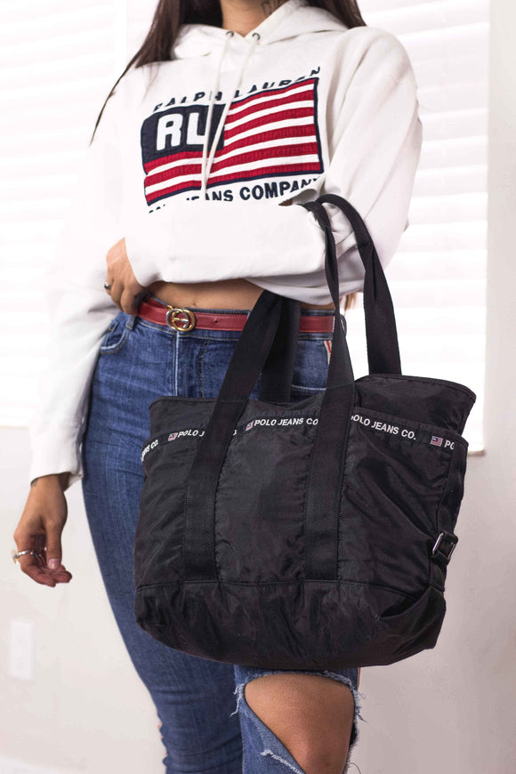 Retro Polo Jeans Ralph Lauren Oversized Tote Bag - TAGVIN
