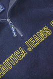 Vintage Nautica 1/4 Zip Fleece Sweatshirt Jumper 90s - TAGVIN