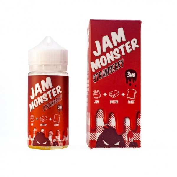 Jam Monster Strawberry 100ml - Best Fruity E-Liquid Flavor