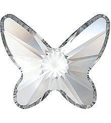 8MM SWAROVSKI BUTTERFLY CRYSTAL FLAT BACK CRYSTALS 2854- CRYSTAL 216 PCS