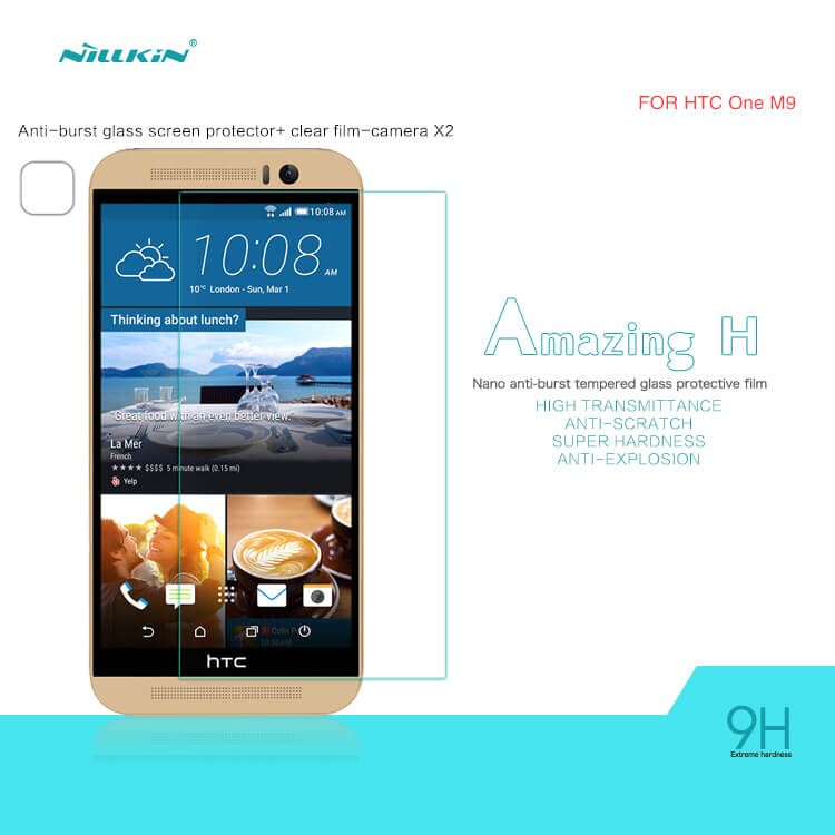 Nillkin Amazing H+ 9H Tempered Glass Screen Protector for HTC One M9 - Gearlyst