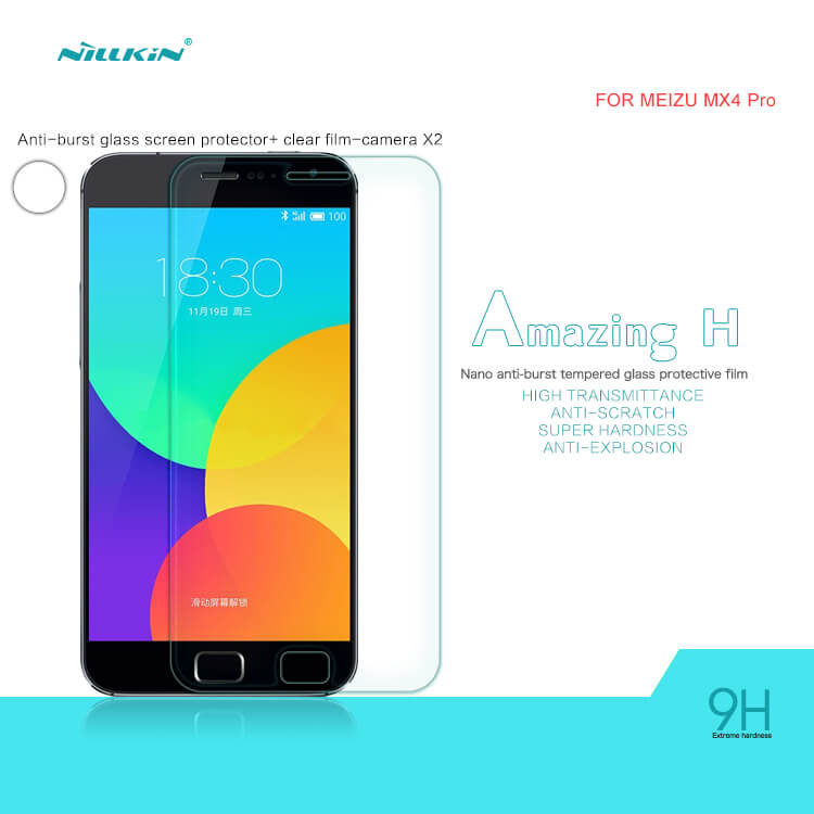 Nillkin H+ 9H Tempered Glass Screen Protector for Meizu MX4 Pro