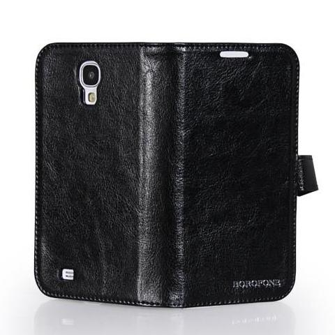 HOCO Borefone Wallet Leather Cover for Samsung Galaxy S4 - Black - Gearlyst