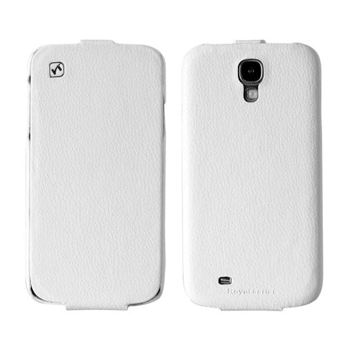 HOCO DUKE Premium Leather Flip Case for Samsung Galaxy S4 - White - Gearlyst