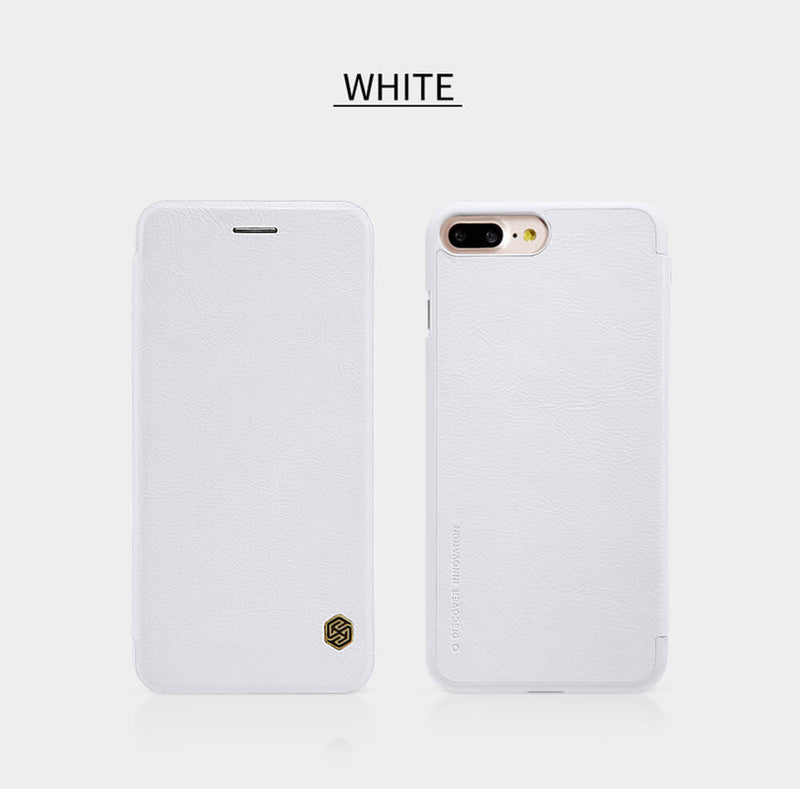 Nillkin QIN iPhone 6 Plus / 6s Plus Slim Leather Wallet Case - White - Gearlyst