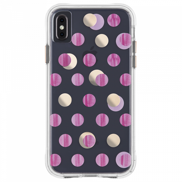 "Case-Mate Wallpaper Street Case for iPhone Xs Max (6.5"") - Pink Dot - Gearlyst"
