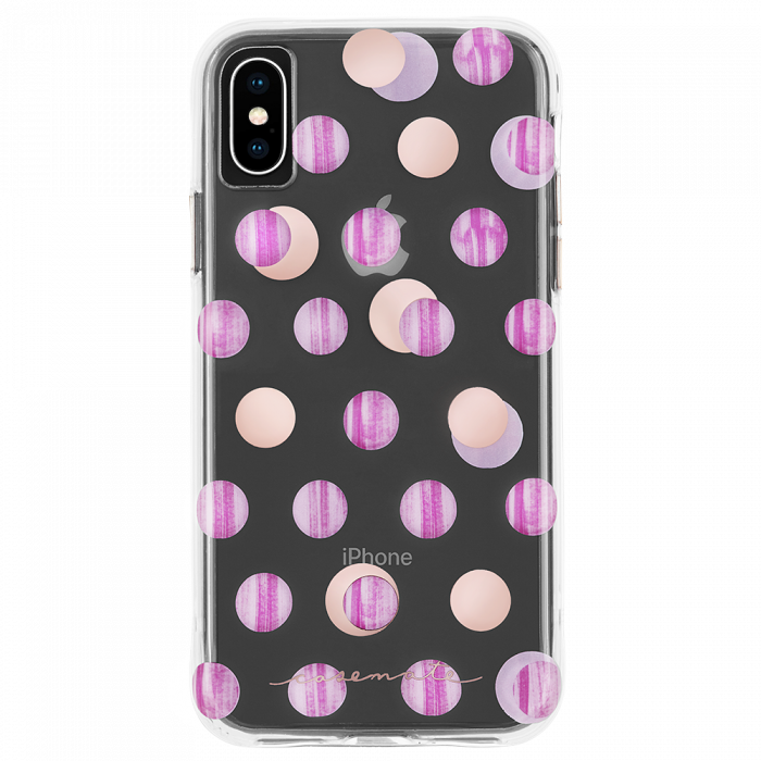 "Case-Mate Wallpaper Street Slim Tough Case for iPhone X/Xs (5.8"") - Pink Dot - Gearlyst"