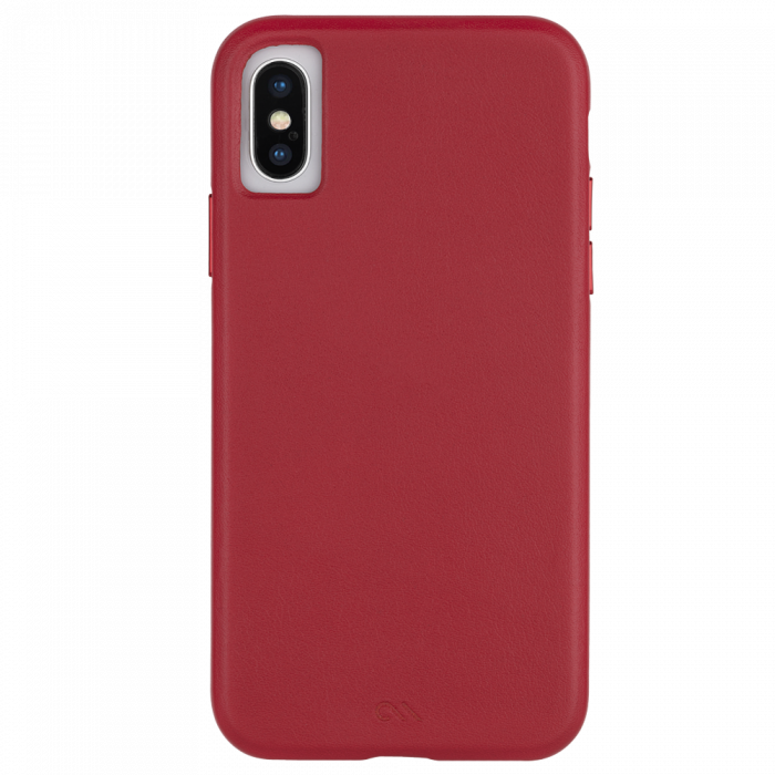 "Case-Mate Barely There Leather Minimalist Case for iPhone X/Xs (5.8"") - Cardinal - Gearlyst"