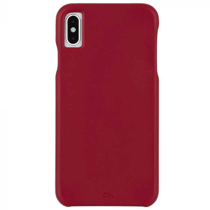 "Case-Mate Barely There Leather Minimalist Case for iPhone Xs Max (6.5"") - Cardinal - Gearlyst"